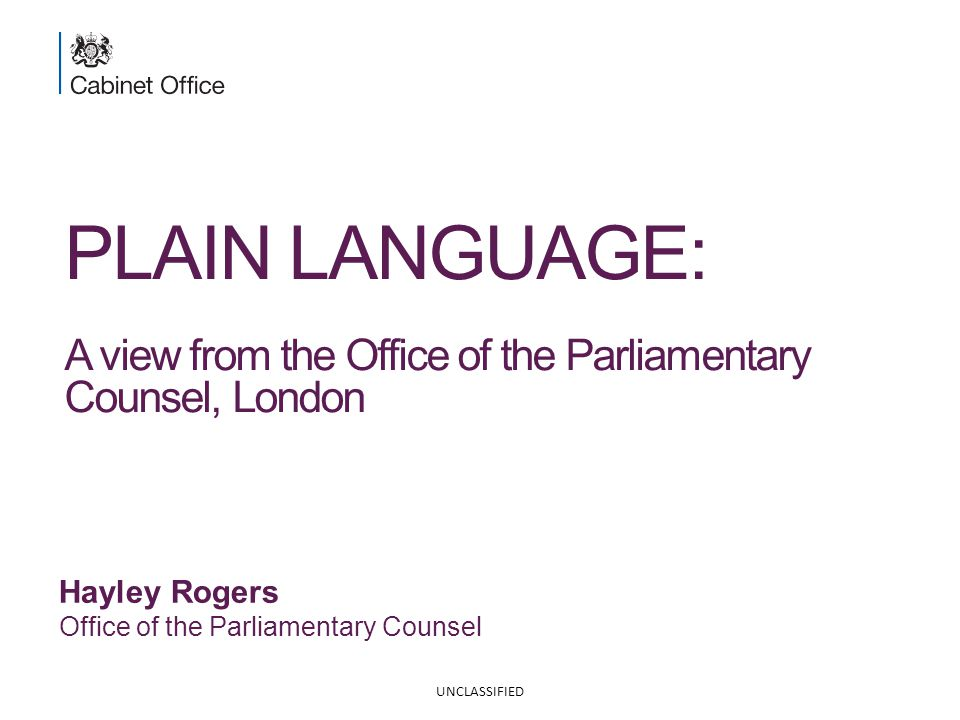 2 P LAIN L ANGUAGE : A view from OPC Why is it so difficult.