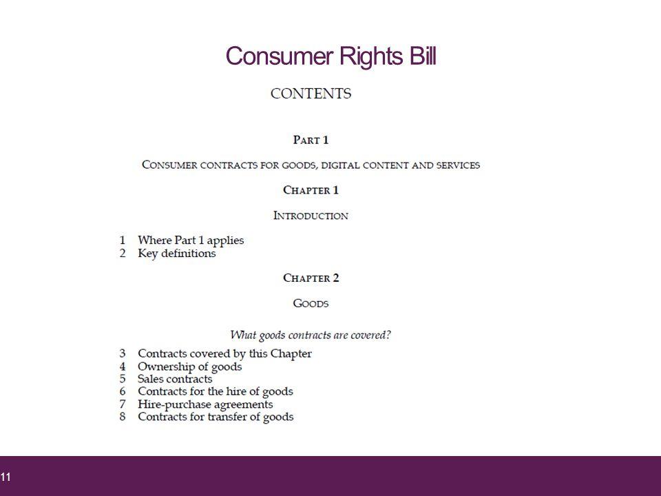 Consumer Rights Bill 11
