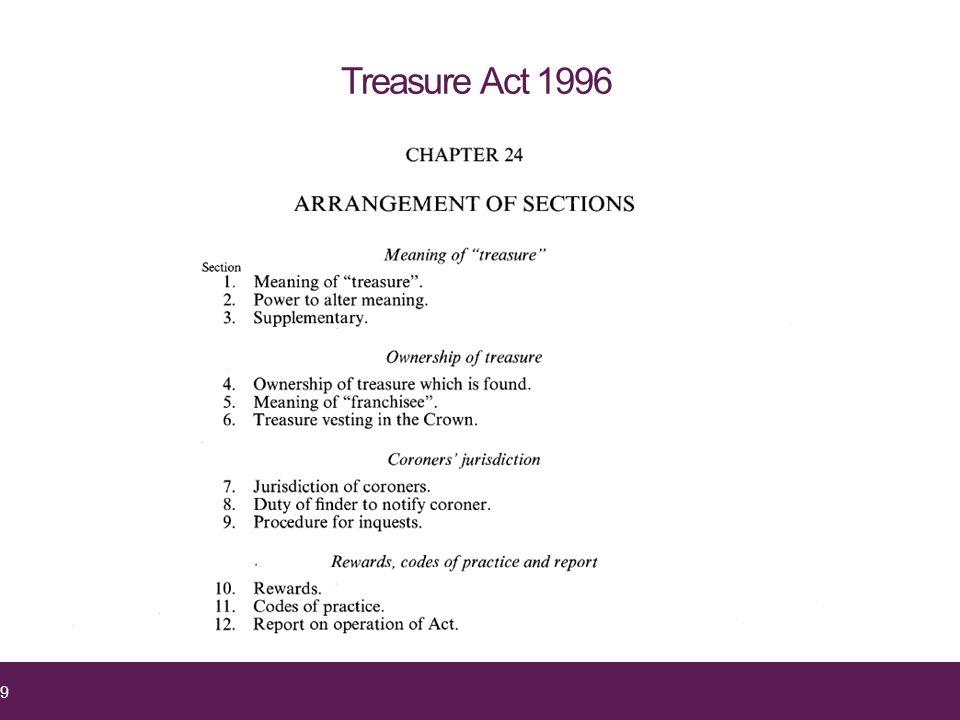 Treasure Act 1996 9