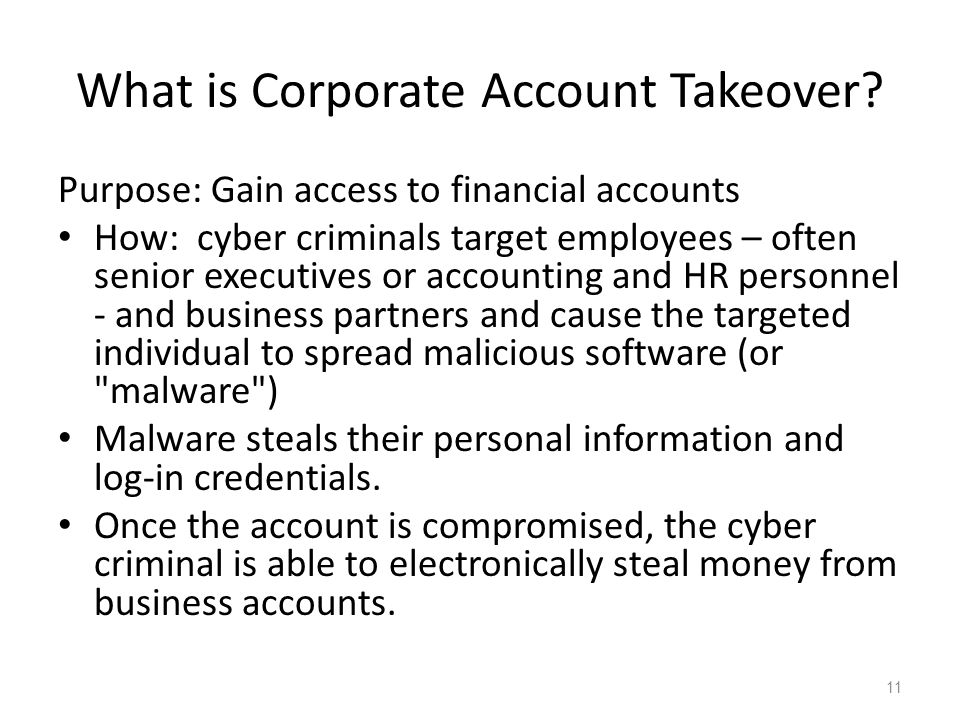 What is Corporate Account Takeover.