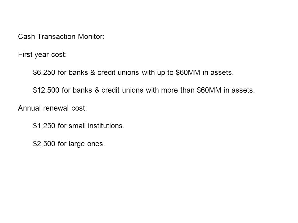 Wire Transaction Monitor VIII.Wire Transfer recordkeeping is a time consuming and expensive task.