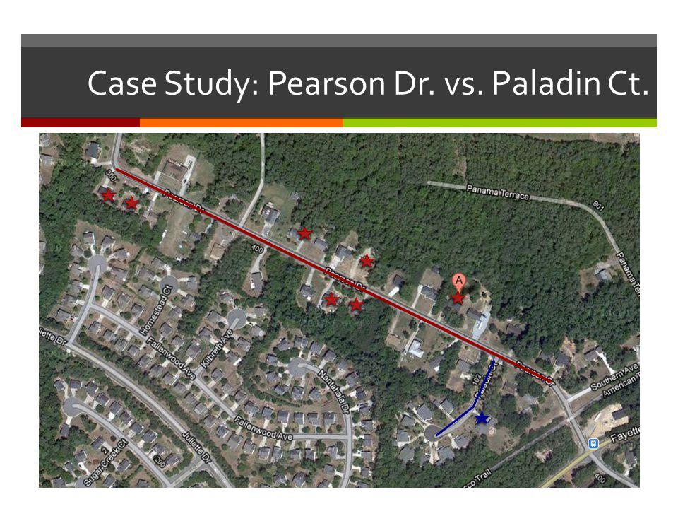 Case Study: Pearson Dr. vs. Paladin Ct.