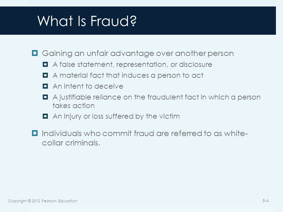Forms of Fraud  Misappropriation of assets  Theft of a companies assets.