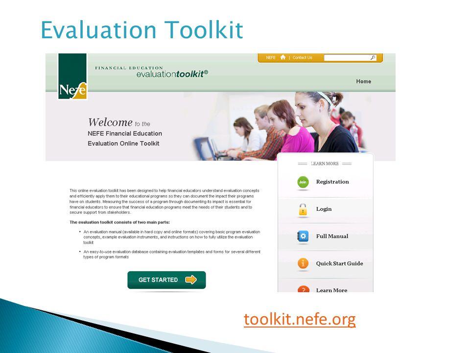 toolkit.nefe.org Evaluation Toolkit