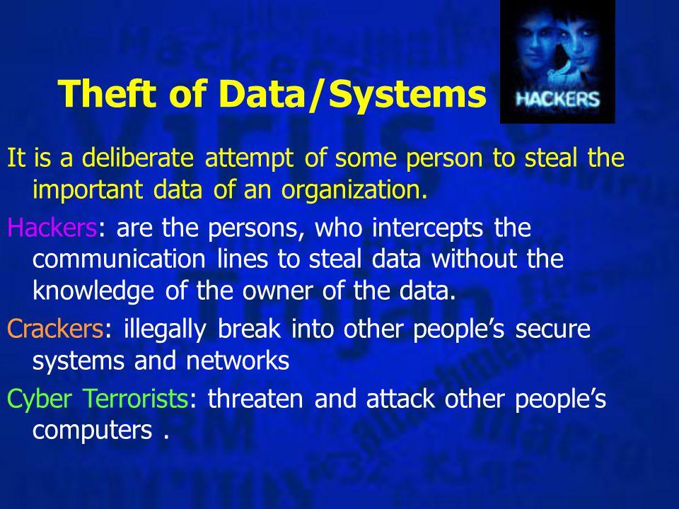 JThe challenge JEspionage JMischief JMoney (extortion or theft) JRevenge Motivation for Hackers: