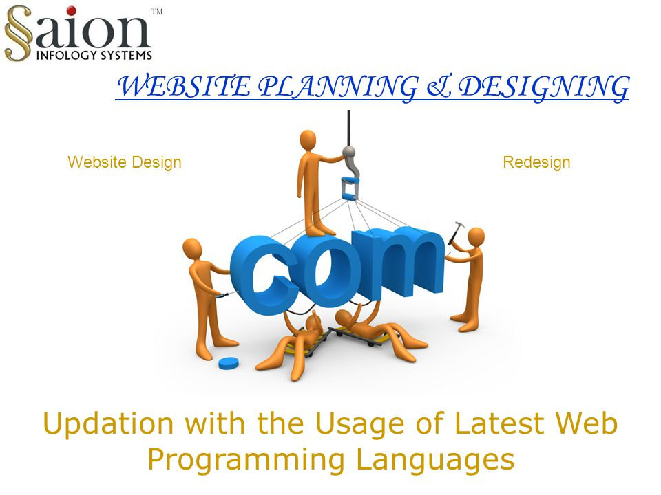 WEBSITE PLANNING & DESIGNING Updation with the Usage of Latest Web Programming Languages Website DesignRedesign
