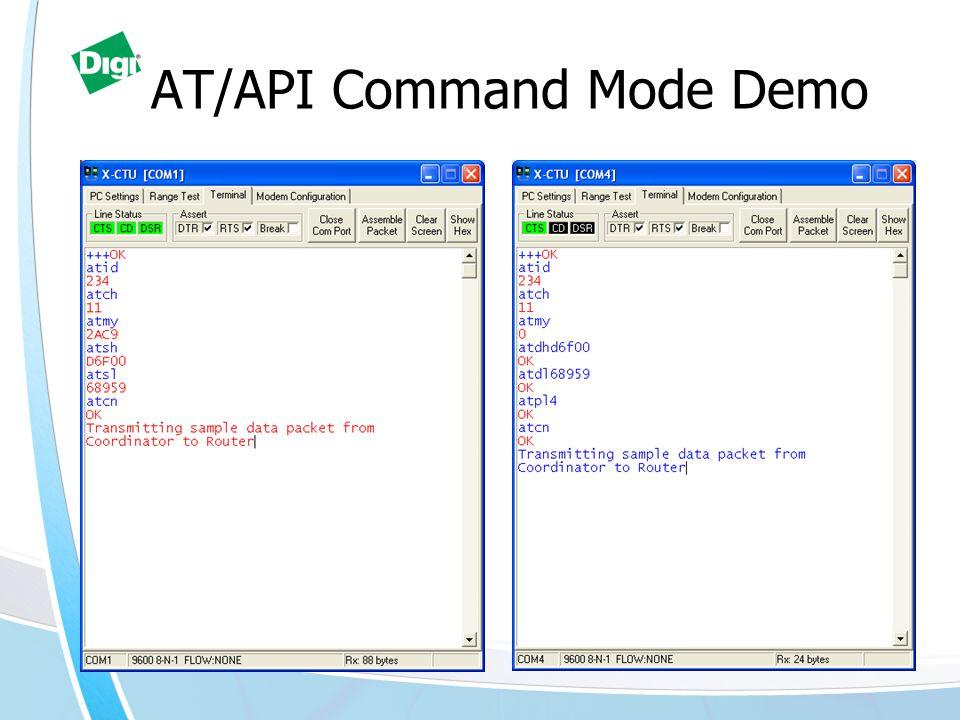 AT/API Command Mode Demo