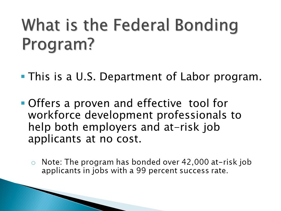  This is a U.S. Department of Labor program.