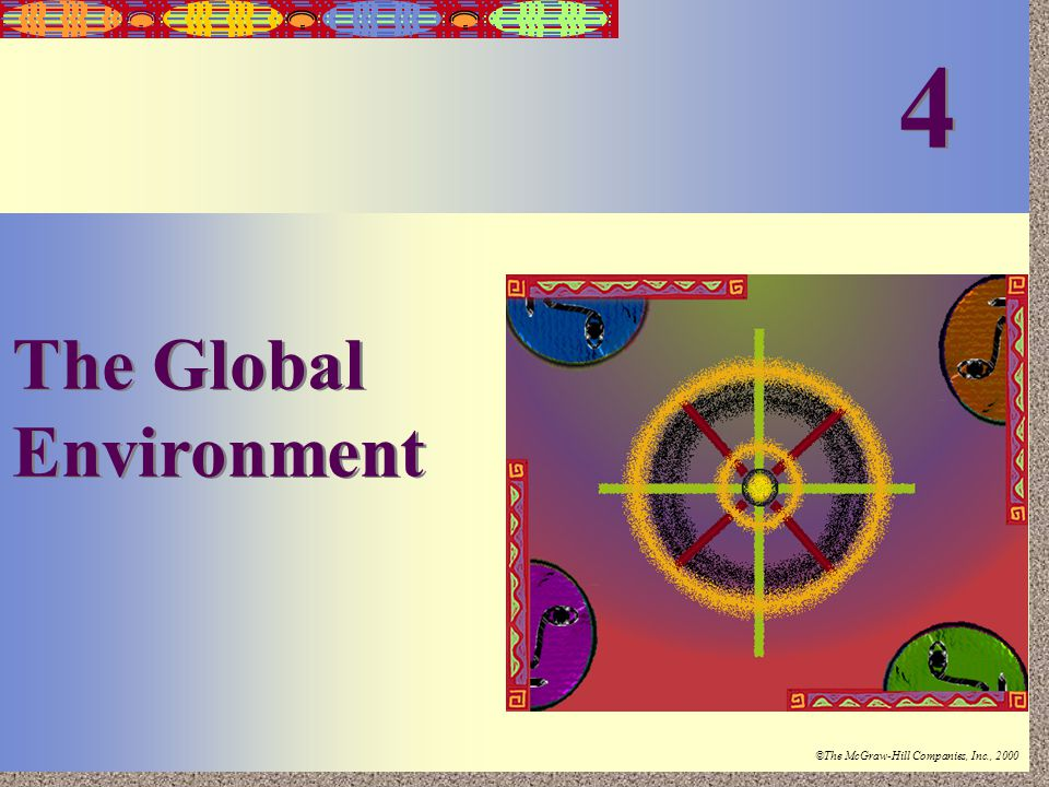 Irwin/McGraw-Hill ©The McGraw-Hill Companies, Inc., 2000 4-1 The Global Environment 4 4