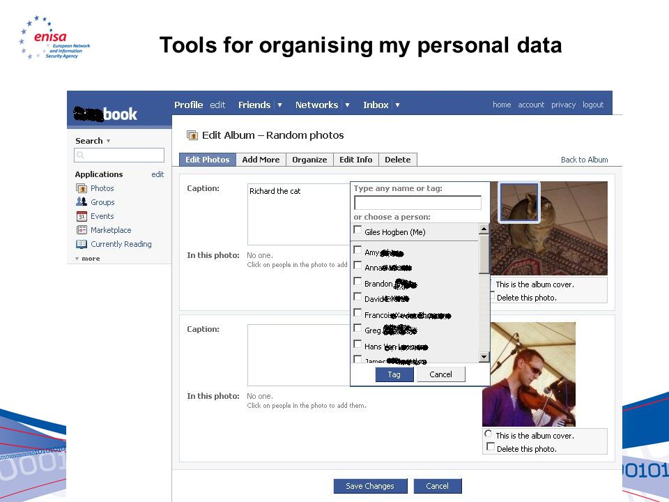Tools for organising my personal data