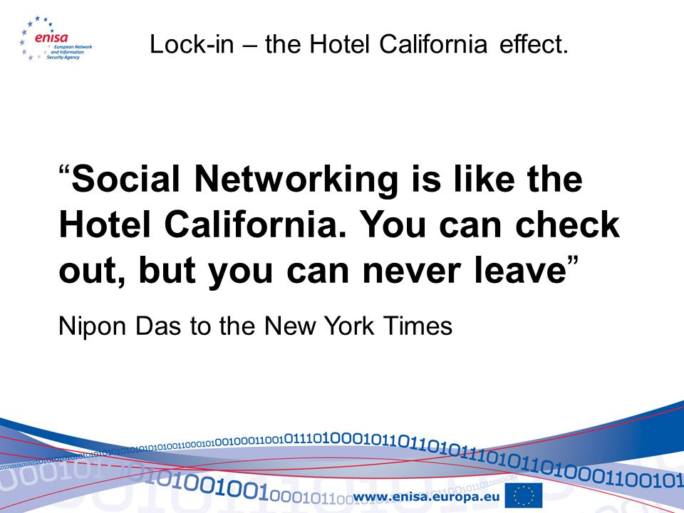 Social Networking is like the Hotel California.