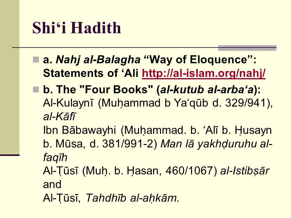 Shi'i Hadith a.