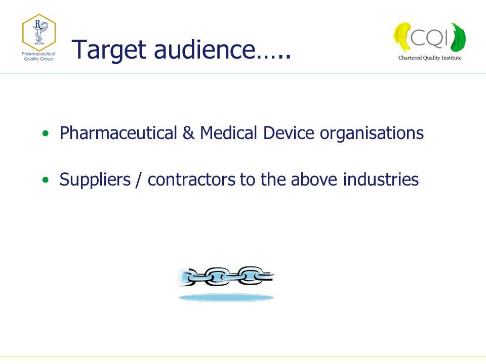 Target audience…..