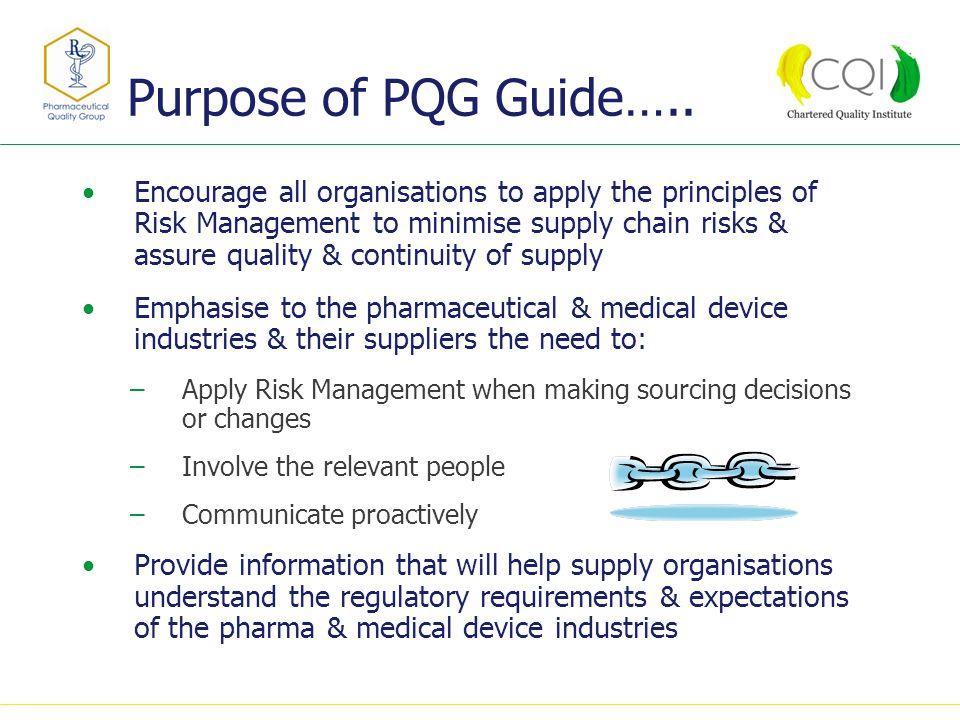 Purpose of PQG Guide…..
