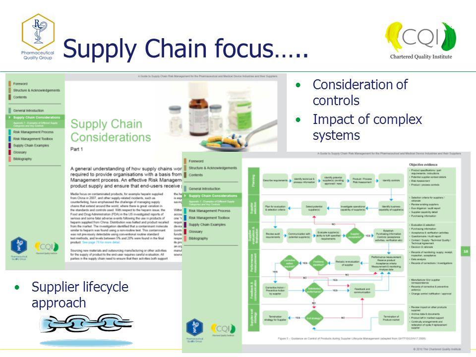 Supply Chain focus…..