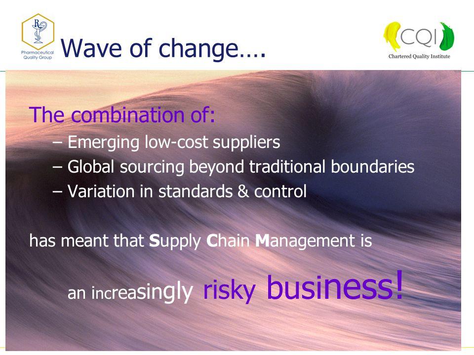 Wave of change….