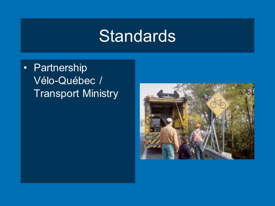 Standards Partnership Vélo-Québec / Transport Ministry