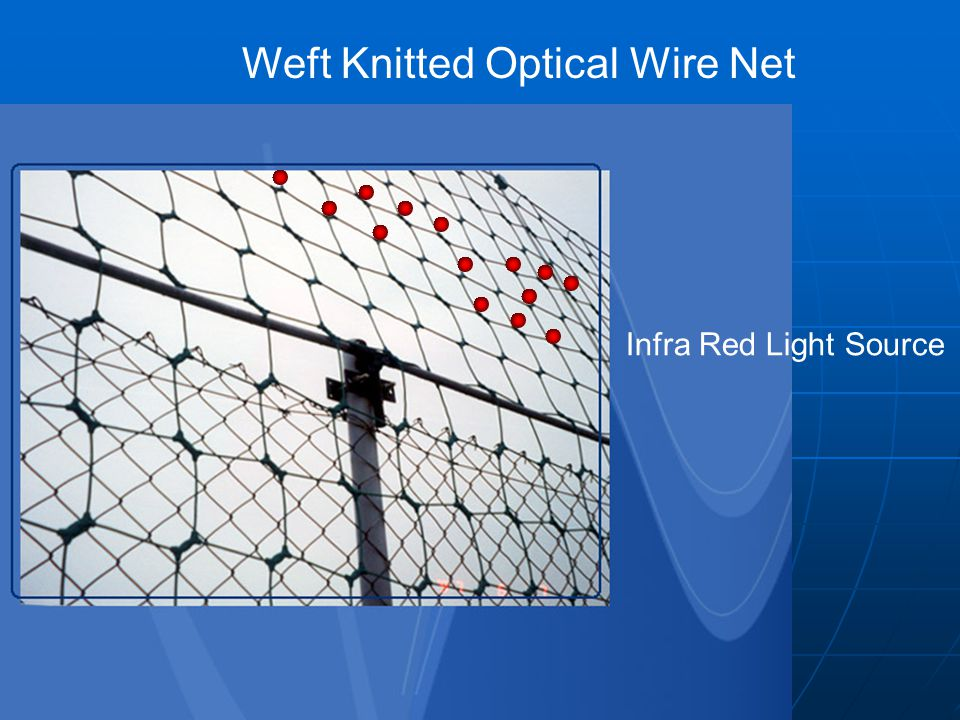 Infra Red Light Source Weft Knitted Optical Wire Net