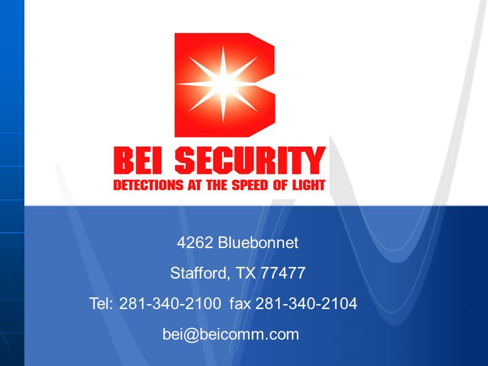 4262 Bluebonnet Tel: 281-340-2100 fax 281-340-2104 Stafford, TX 77477 bei@beicomm.com