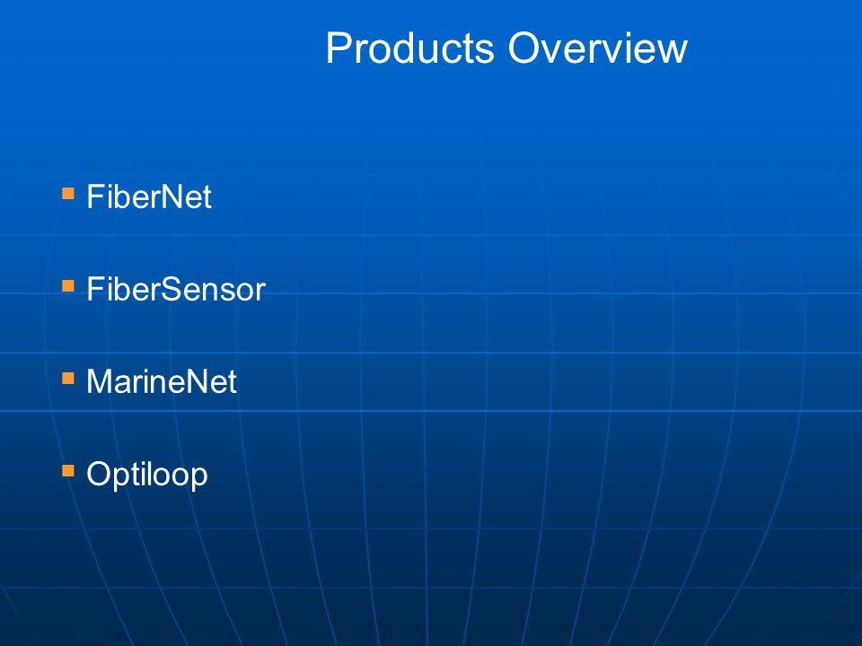  FiberNet  FiberSensor  MarineNet  Optiloop Products Overview