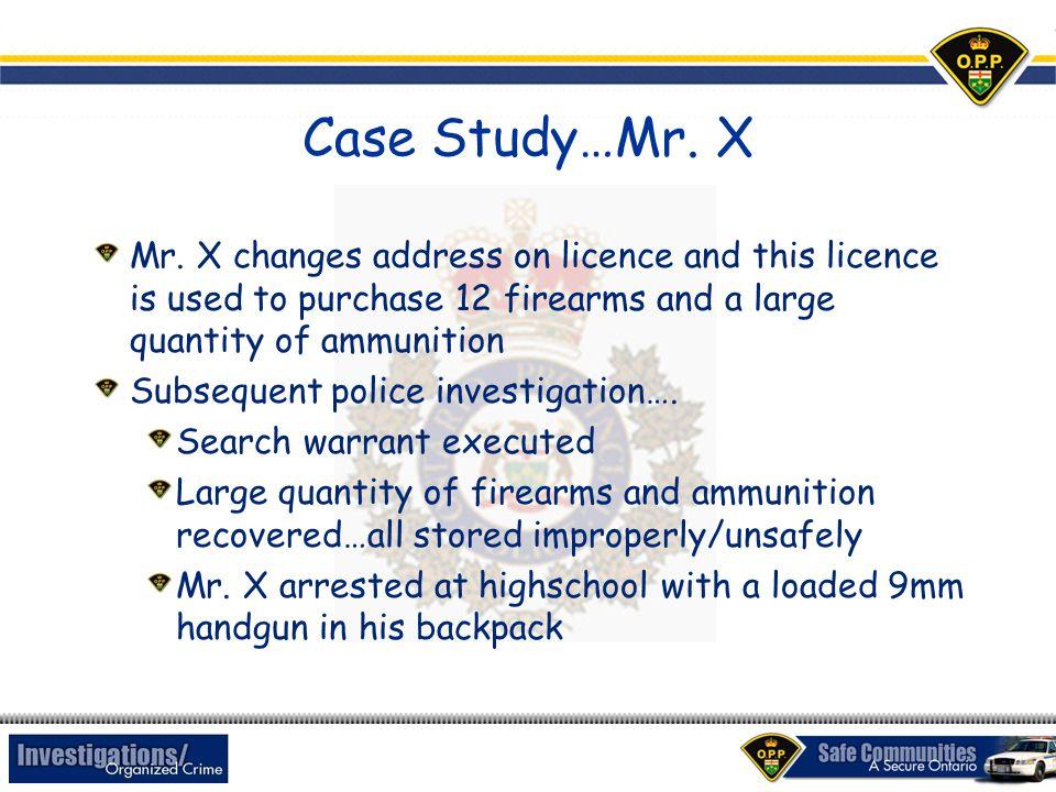 Case Study…Mr.X Mr.