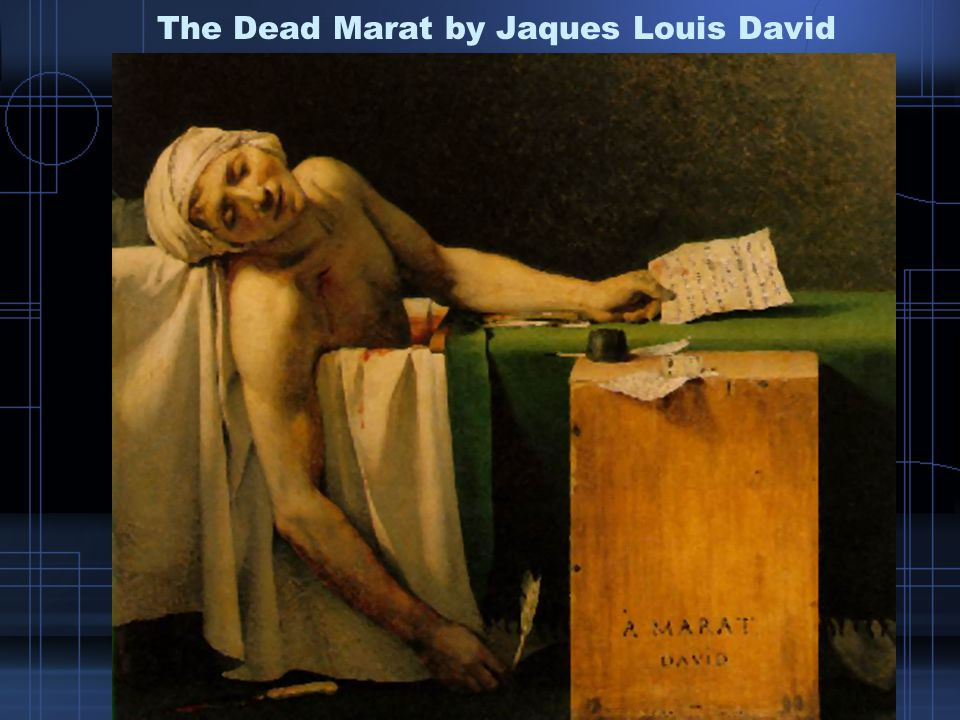 The Dead Marat by Jaques Louis David