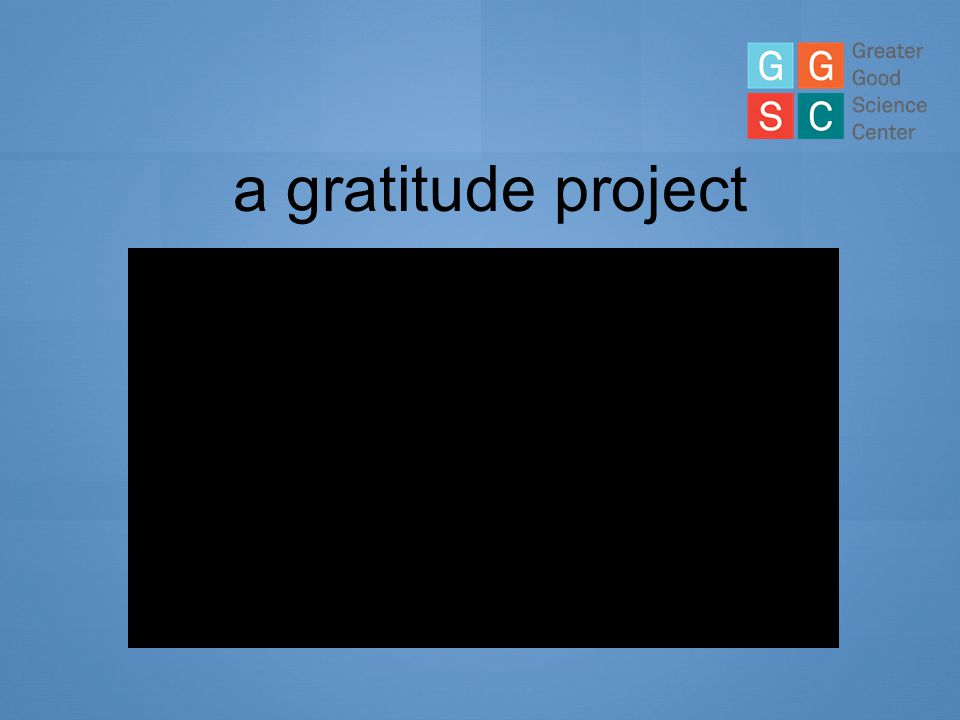 a gratitude project