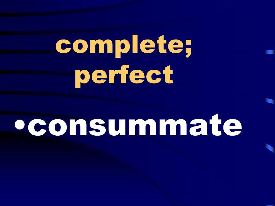 complete; perfect consummate