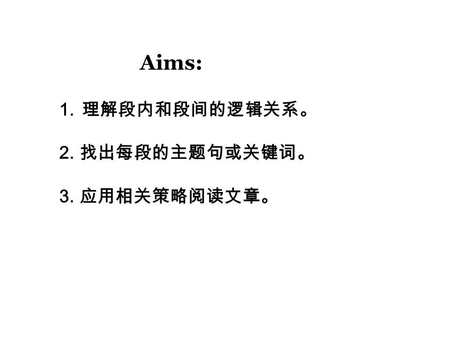 Part C: 1.划出每段的主题句。 2.