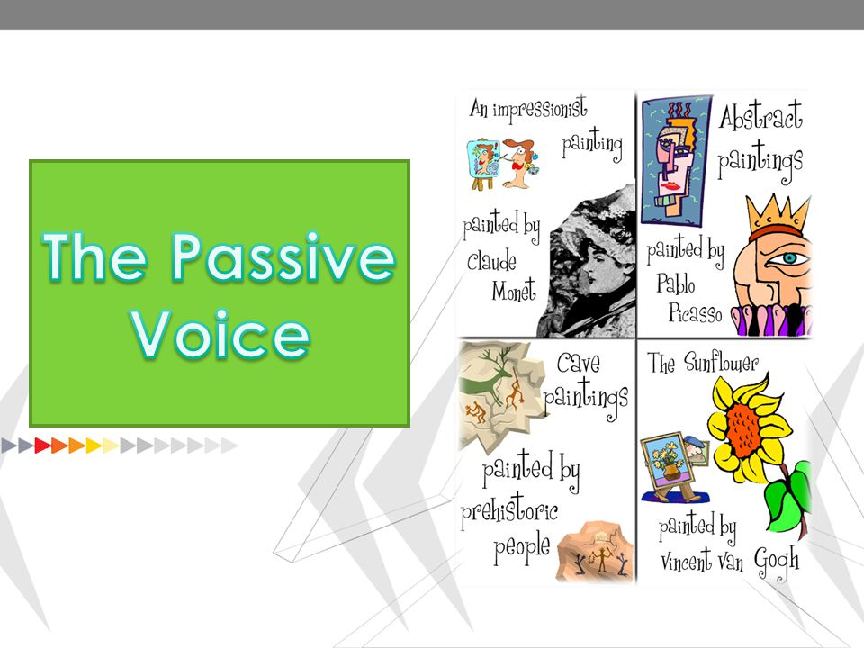 Use of the Passive focus is on the action The Passive voice is used when the focus is on the action.