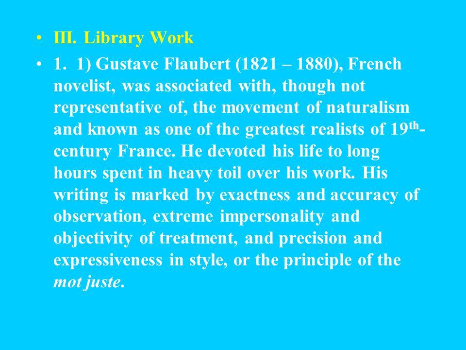 III.Library Work 1.