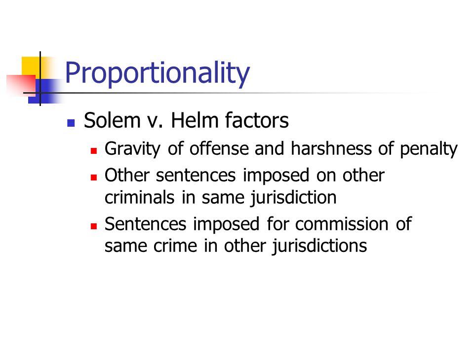 Proportionality Solem v.