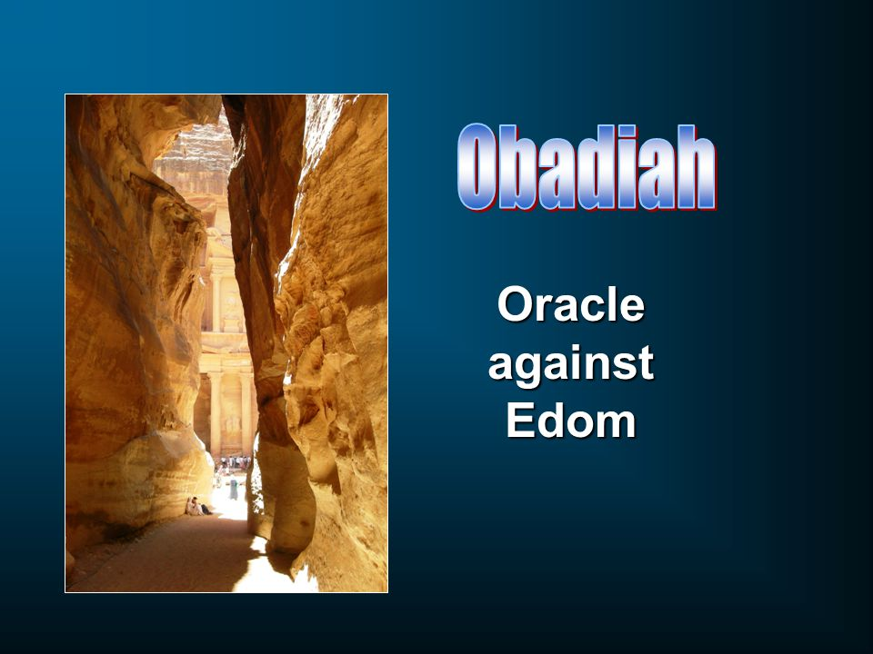 Oracle against Edom