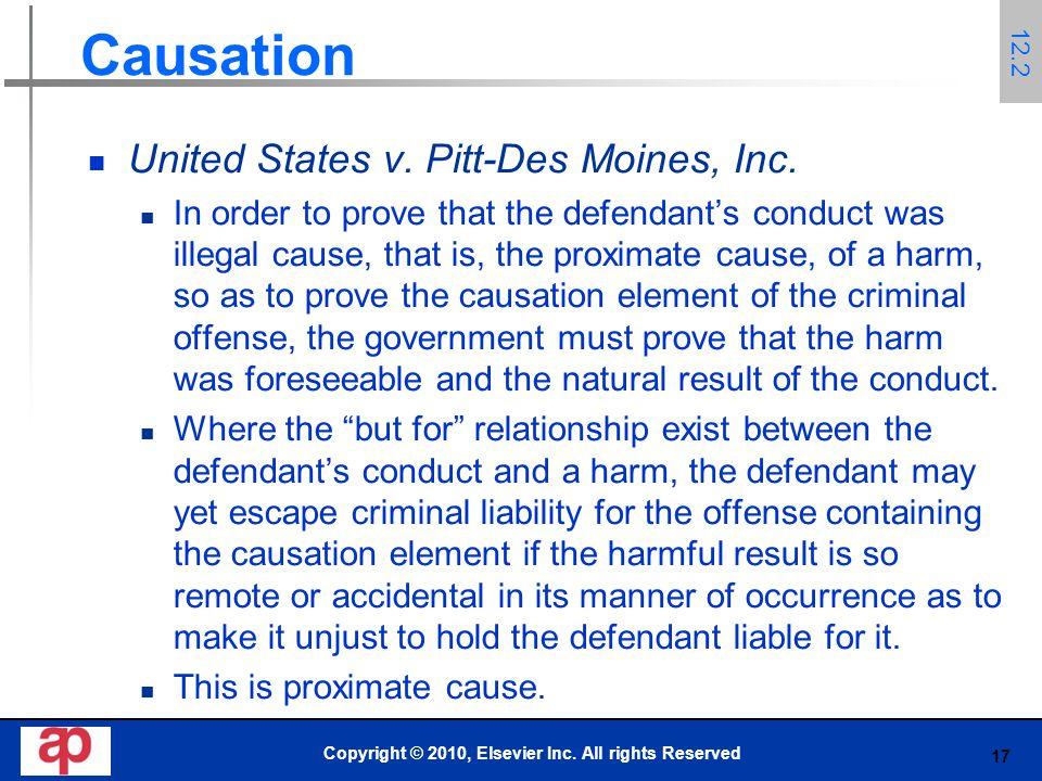 17 Causation United States v. Pitt-Des Moines, Inc.