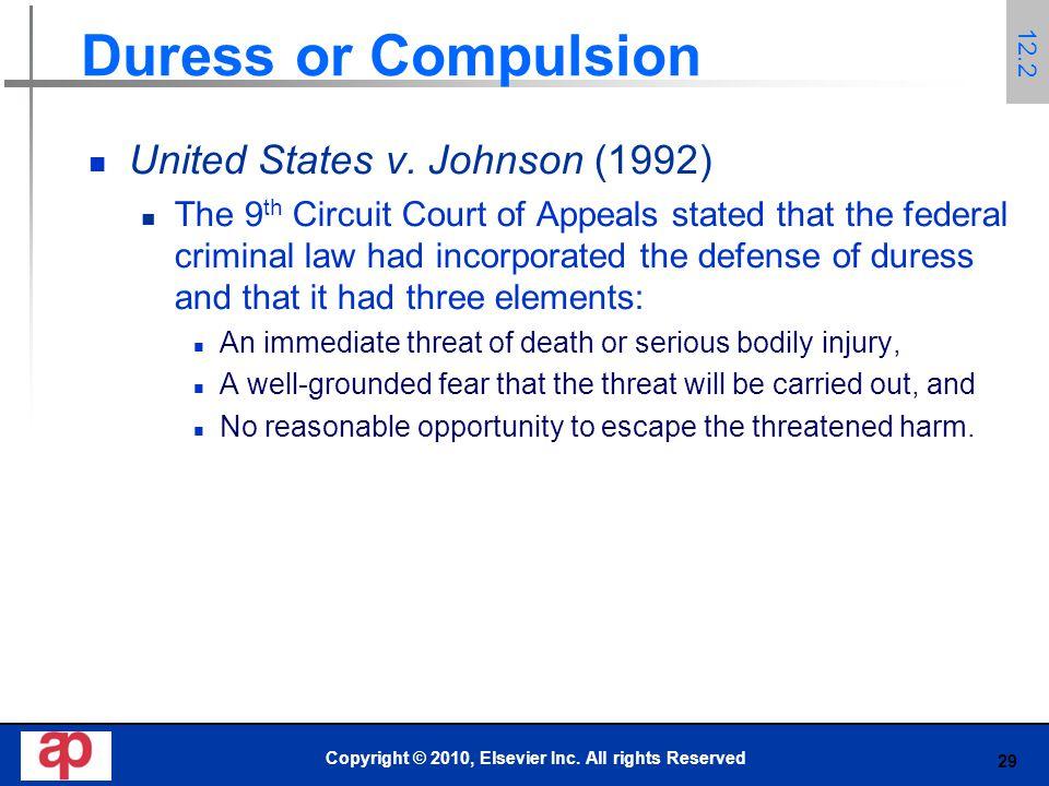 29 Duress or Compulsion United States v.