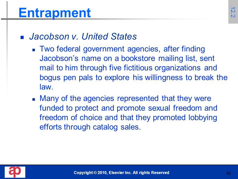 33 Entrapment Jacobson v.