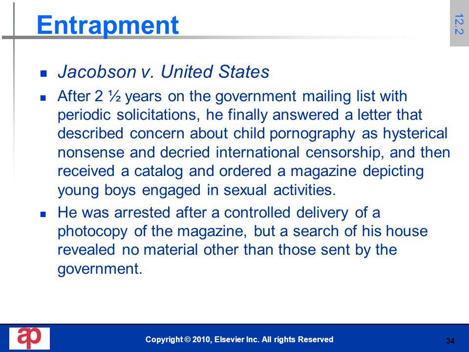 34 Entrapment Jacobson v.