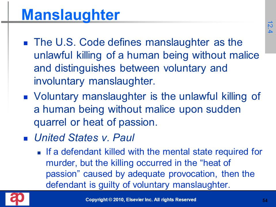 54 Manslaughter The U.S.