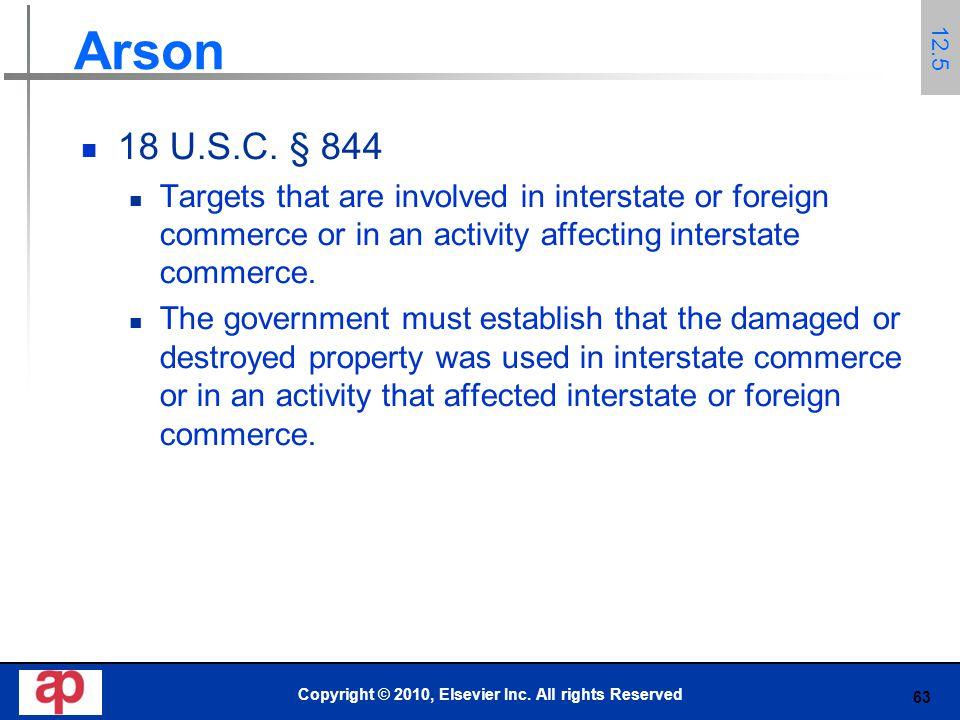63 Arson 18 U.S.C.