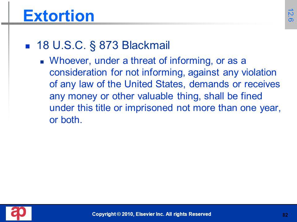 82 Extortion 18 U.S.C.