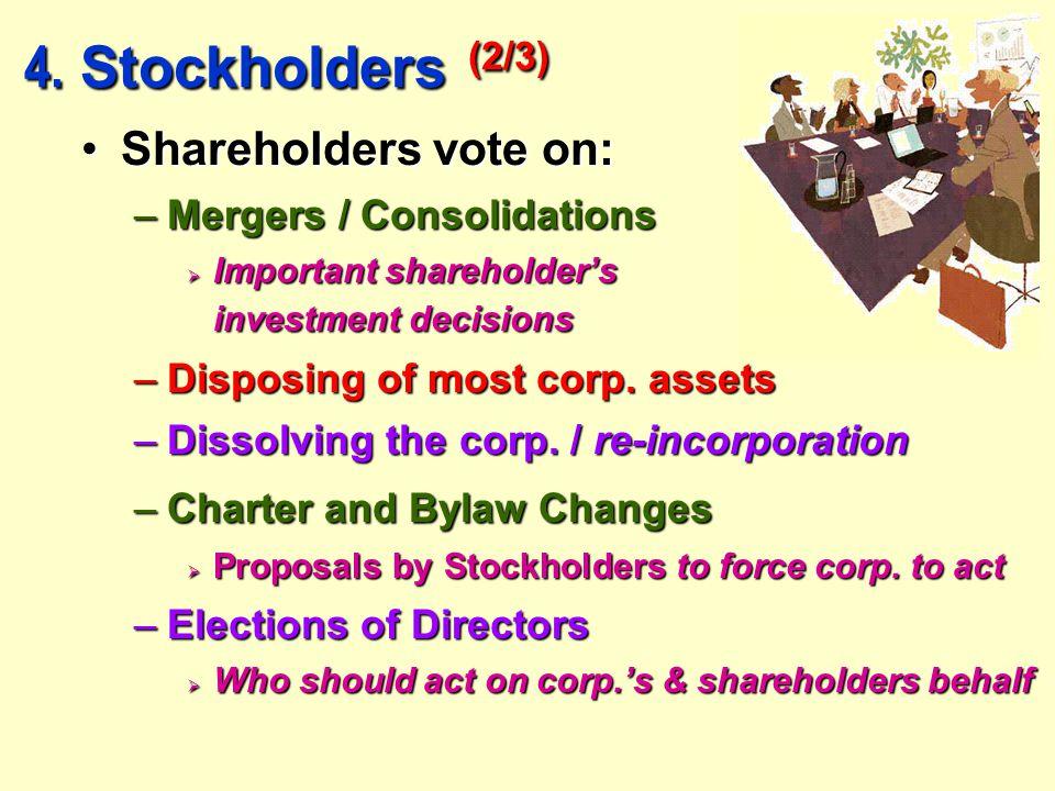 4. Stockholders (2/3) 4.