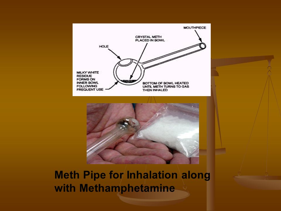 Meth Pipe for Inhalation along with Methamphetamine