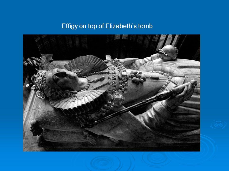 Effigy on top of Elizabeth's tomb