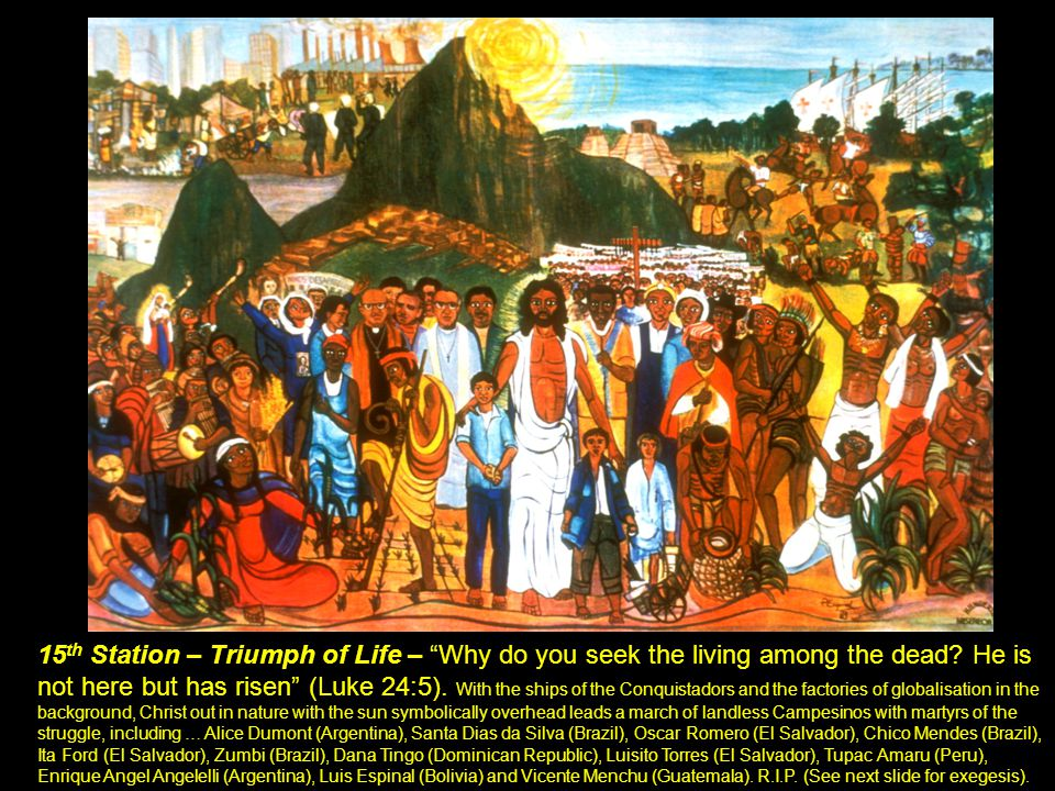 "15 th Station 15 th Station – Triumph of Life – ""Why do you seek the living among the dead? He is not here but has risen"" (Luke 24:5). With the ships"