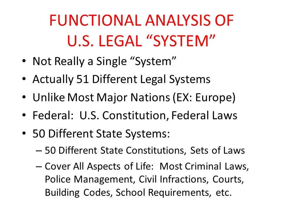 FUNCTIONAL ANALYSIS OF U.S.