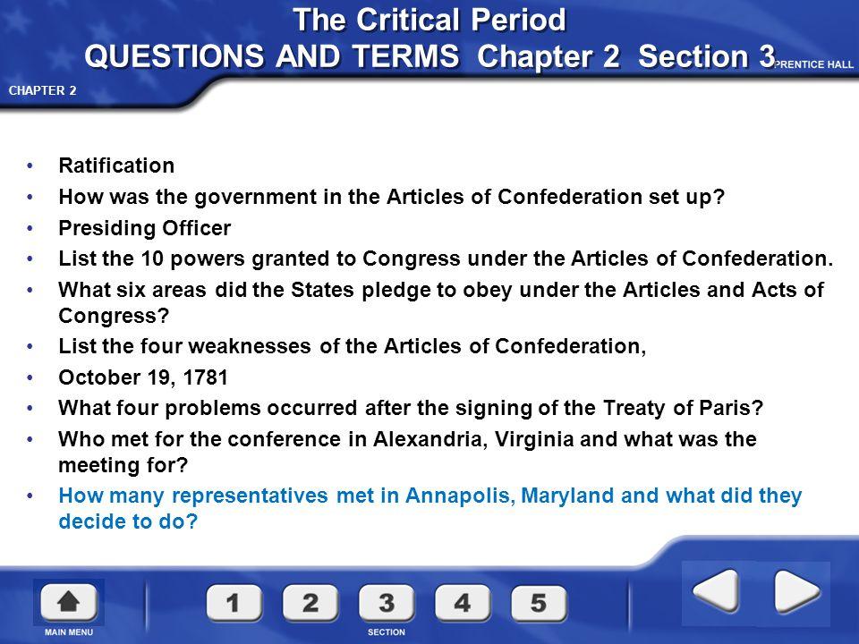 CHAPTER 2 Treaty of Paris 1783
