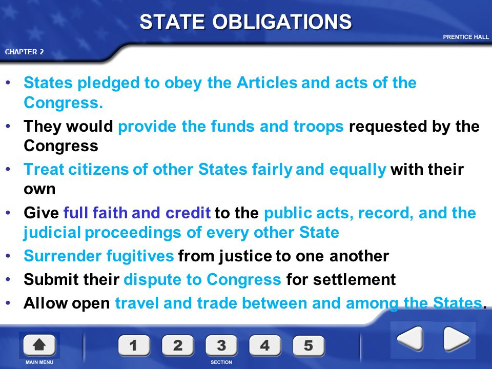 CHAPTER 2 Congress powerless to lay and collect taxes or duties.