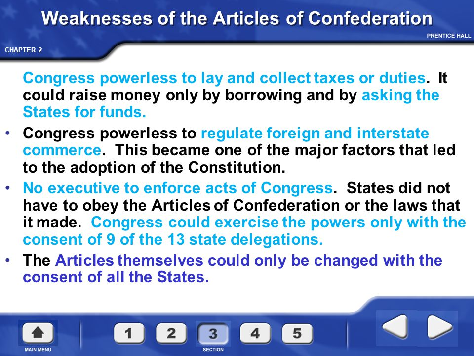 CHAPTER 2 Weaknesses of the Articles of Confederation