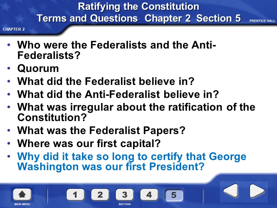 CHAPTER 2 The Federalists and Anti-Federalists