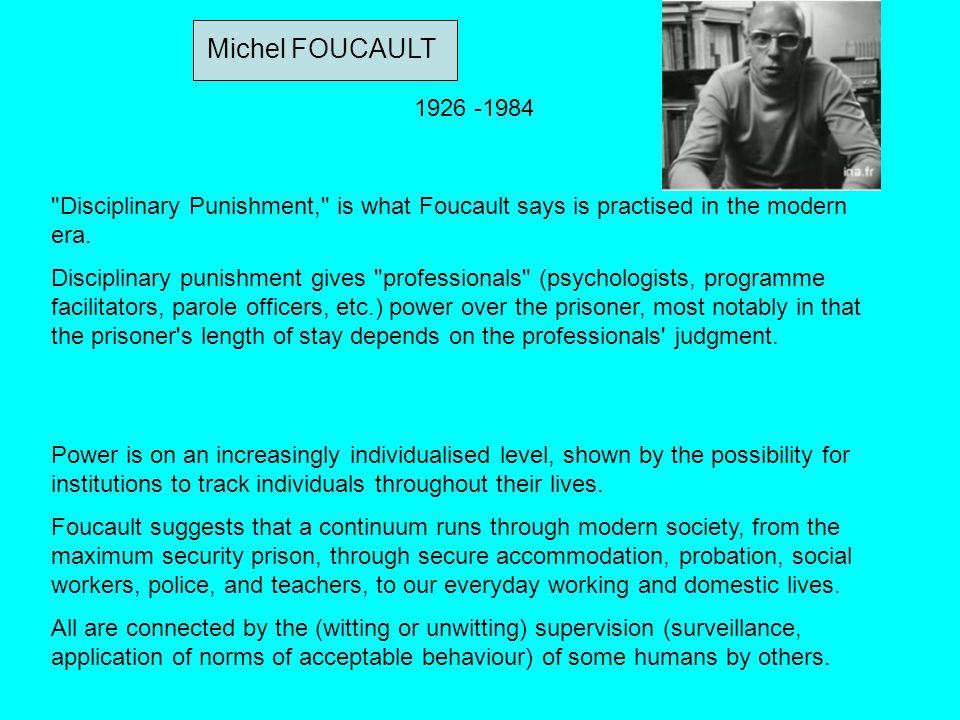 Michel FOUCAULT 1926 -1984
